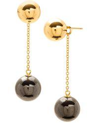 Gorjana - 18k Yellow Gold Plated Newport Ball Chain Drop Earrings - Lyst