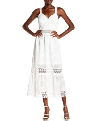 ABS Collection - Lace V-neck Short Dress - Lyst