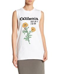 Michelle By Comune - Caliornia Flowers Tank Top - Lyst