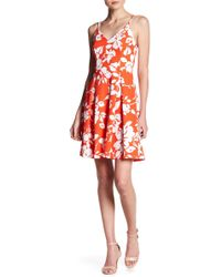 Soprano - Floral Skater Dress - Lyst