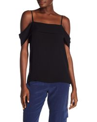 Theory - Silk Off-the-shoulder Top - Lyst