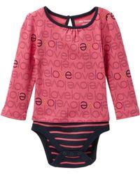 Joe Fresh - Long Sleeve Allover Print Bodysuit (baby Girls) - Lyst