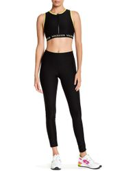 Warrior by Danica Patrick Active - Mesh Overlay Leggings - Lyst