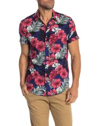 Parke & Ronen - Biscayne Short Sleeve Slim Fit Shirt - Lyst
