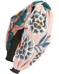 Cara - Floral Knotted Headband - Lyst