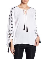 Do+Be Collection | Stitched Split Sleeve Blouse | Lyst