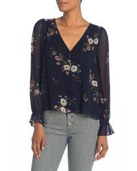 cee2ef78b84496 Joie Nepal Long Sleeve Printed Silk Blouse - Lyst
