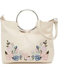 T-Shirt & Jeans - Floral Embroidered Ring Crossbody Bag - Lyst
