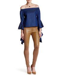 Gracia - Faux Leather Panel Legging Pant - Lyst