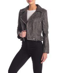 Walter Baker - Francis Animal Print Leather Moto Jacket - Lyst