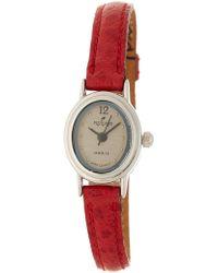 Peyote Bird Women's Petite Timepiece Leather Strap Watch, 17mm - Red