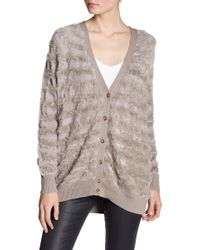 Juicy Couture | Multi Texture Tonal Stripe Cardigan | Lyst