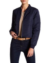Skies Are Blue - Front Zipper Bomber Jacket - Lyst