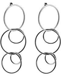 Eklexic - Interlinking Drop Earrings - Lyst