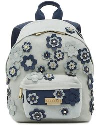 Zac Zac Posen | Eartha Leather Trimmed Hex Floral Applique Small Backpack | Lyst