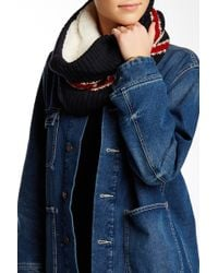 Modena - Flag Knit Faux Fur Lined Scarf - Lyst