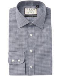 Thomas Pink - Ward Check Super Slim Fit Dress Shirt - Lyst