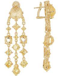 Judith Ripka - Gold Vermeil Multi-gemstone Chandelier Drop Earrings - Lyst