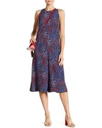 French Connection - Frances Drape Print Jumpsuit - Lyst