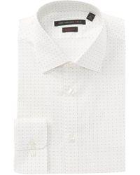 John Varvatos - Diamond Print Regular Fit Dress Shirt - Lyst