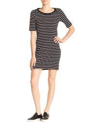 Philosophy Apparel - Striped Scoop Neck Short Sleeve Dress - Lyst