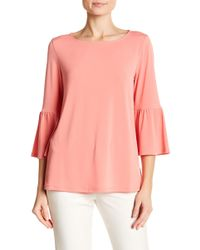 Ellen Tracy - 3/4 Length Bell Sleeve Top - Lyst