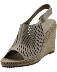 bce1d5d7b42 Bettye Muller Concepts Trent Slingback Wedge in Brown - Lyst