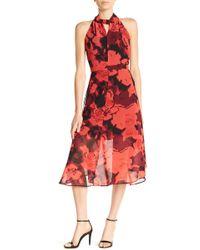 Philosophy Apparel - Floral Woven Midi Dress - Lyst
