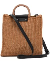 Most Wanted Usa - Wooden Handle Straw Crossbody Bag - Lyst