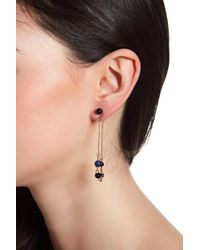 House of Harlow 1960 - Ulli Beaded Lapis Front & Back Dangle Earrings - Lyst