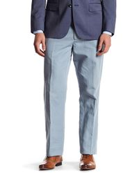 "Bonobos - Foundation Blue Woven Regular Fit Double-pleated Trouser - 32-34"" Inseam - Lyst"