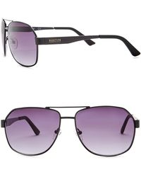 fb32683aab0 Kenneth Cole Reaction - 58mm Metal Oversized Square Sunglasses - Lyst