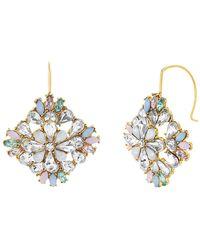 Steve Madden - Multi-colored Crystal Floral Earrings - Lyst
