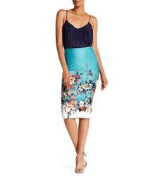 Eci - Floral Print Midi Skirt - Lyst