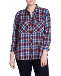 Lucky Brand - Plaid Button Down Shirt (plus Size) - Lyst