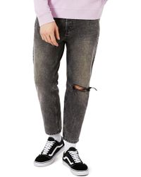 TOPMAN - Rigid Tapered Fit Jeans - Lyst