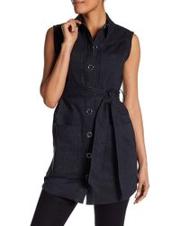 Laundry by Shelli Segal - Belted Vest - Lyst