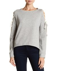 W118 by Walter Baker - Kennedy Lace-up Cold Shoulder Sweatshirt - Lyst