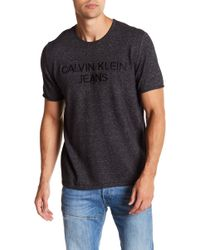 Calvin Klein - Embroidered Logo Crew Neck Tee - Lyst