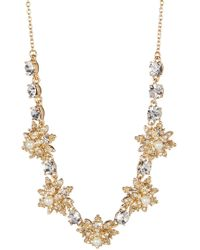 Marchesa - Faux Pearl Crystal Star Cluster Frontal Necklace - Lyst