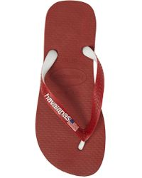 65231e03e Lyst - Havaianas Havianas Top Mix Usa Flag Flip Flop in Blue for Men