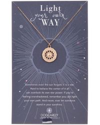 Dogeared - Light Your Own Way Sun Salutation Pendant Necklace - Lyst