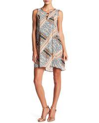 BCBGeneration - Patchwork Lattice A-line Dress - Lyst