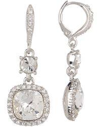 Givenchy - Cushion Crystal Drop Earrings - Lyst