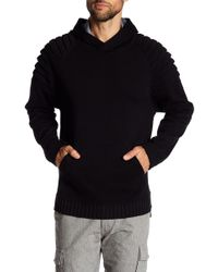 Quinn - Shoulder Paneled Knit Hoodie - Lyst