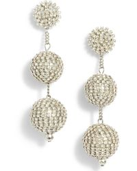Tasha - Crystal Ball Drop Earrings - Lyst
