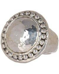 Simon Sebbag - Oxidized Hammered Sterling Silver Beaded Trim Ring - Size 7 - Lyst