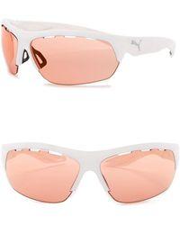 PUMA - 60mm Wrap Sunglasses - Lyst
