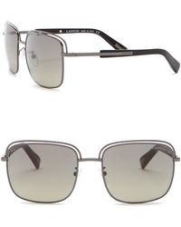 Lanvin - 57mm Metal And Acetate Rectangle Sunglasses - Lyst
