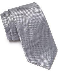 Calvin Klein - Intersect Diamond Silk Tie - Lyst
